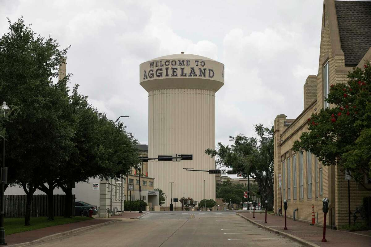 The water tower, photographed Tuesday, July 7, 2020, at Texas A&M University in College Station.