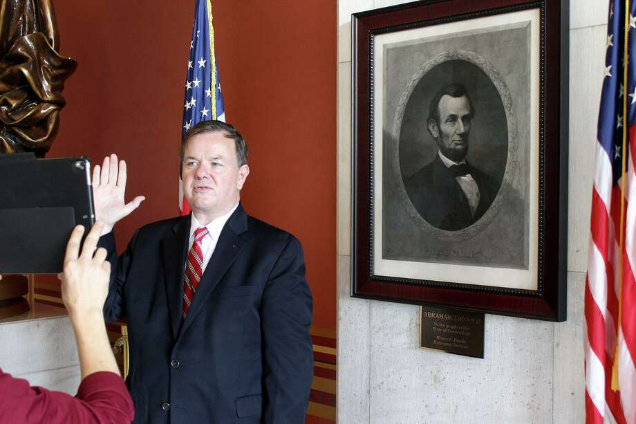 State Rep. John Frey took the oath of office for his new appointment to the federal Advisory Council on Historic Preservation. Photo: Contributed Photo / Hearst Connecticut Media