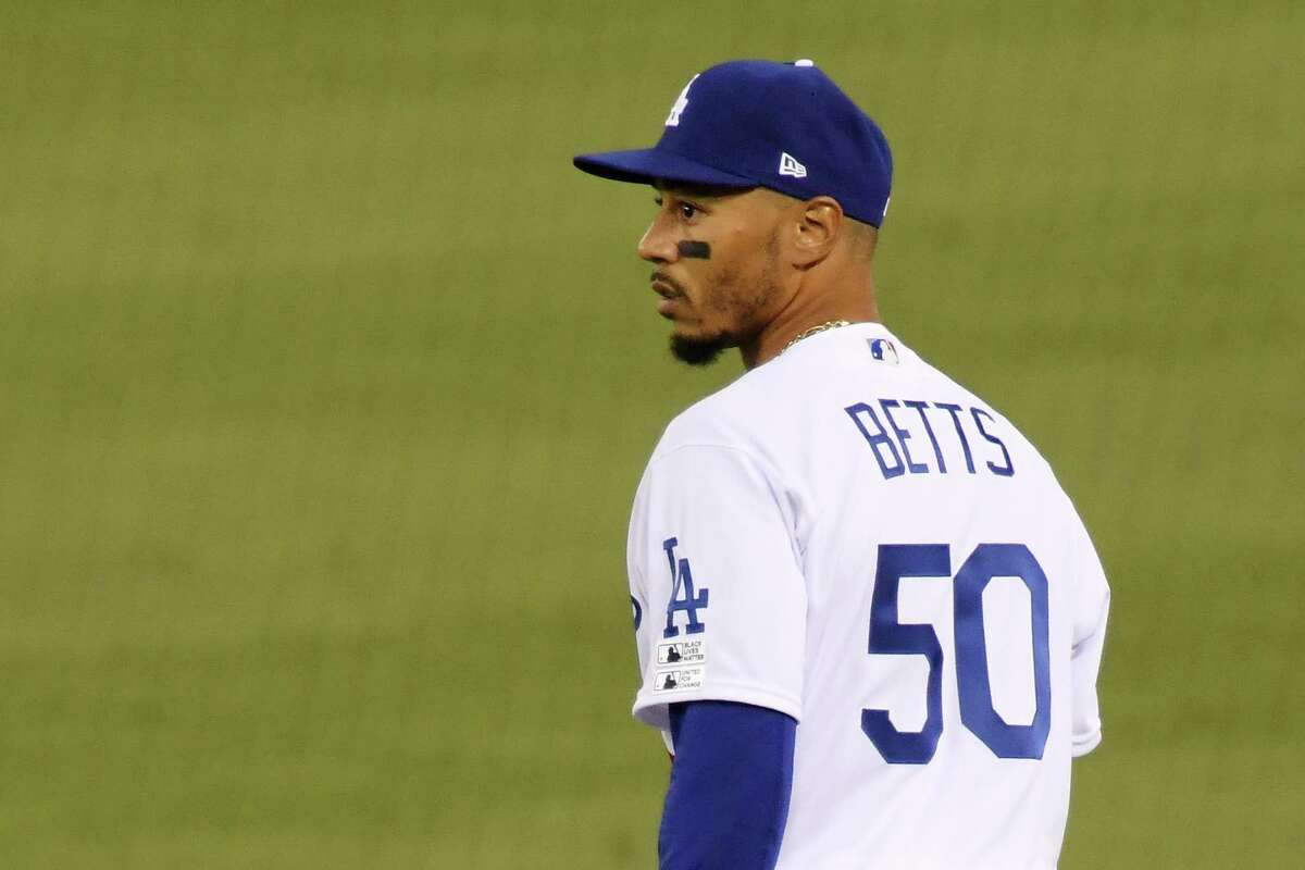 Right fielder Mookie Betts is off to a .150 (3-for-20) start as a Dodger.