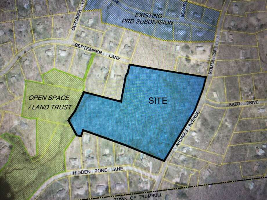 This development proposed 18 single-family homes to be constructed on some 15 acres on Nichols Avenue. Photo: Brian Gioiele / Hearst Connecticut Media / Connecticut Post
