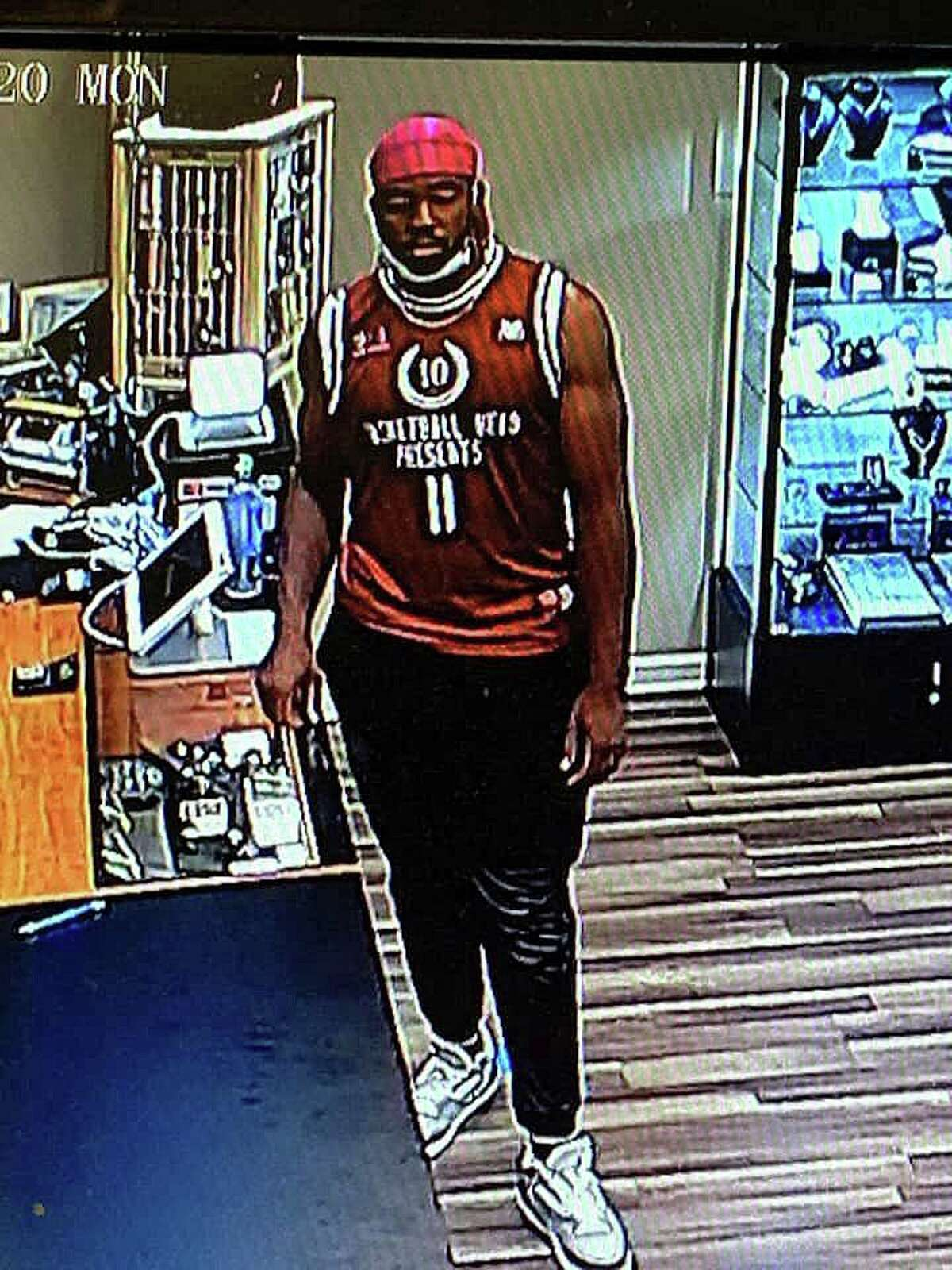 Milford police are asking the public's help to identify a suspect in the theft of more than $9,000 in jewelry from a store in the Connecticut Post Mall on June 22, 2020.