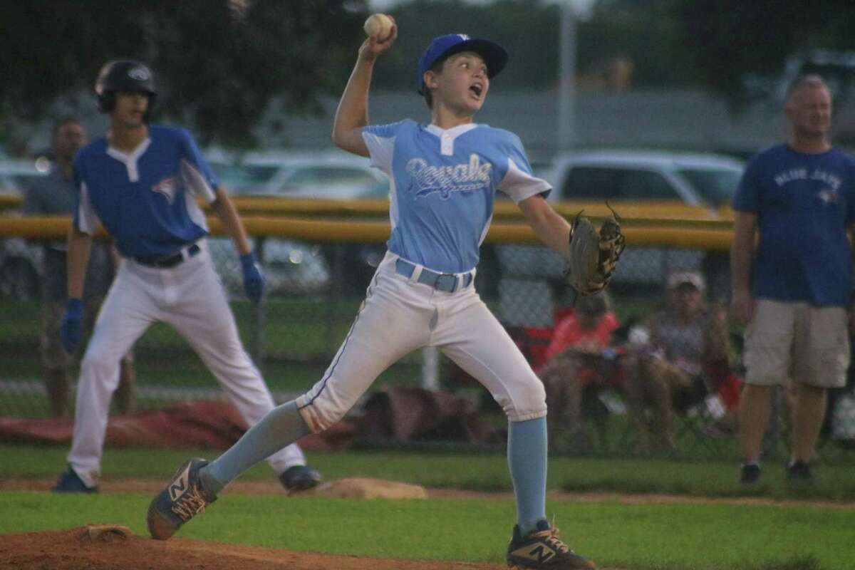 Royals hurler Tyler Sauers works on a batter during his Monday night gem at John Paul Field.