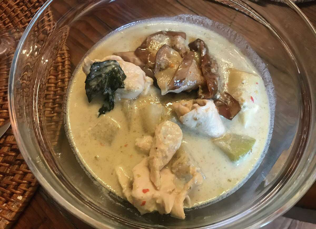 Southern Style Green Curry with chicken and eggplant from Kin Dee