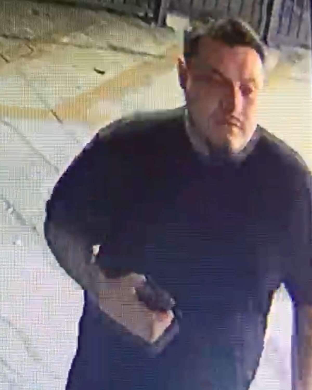 San Antonio police are searching to two men who are accused of stealing a motorcycle from a downtown street.