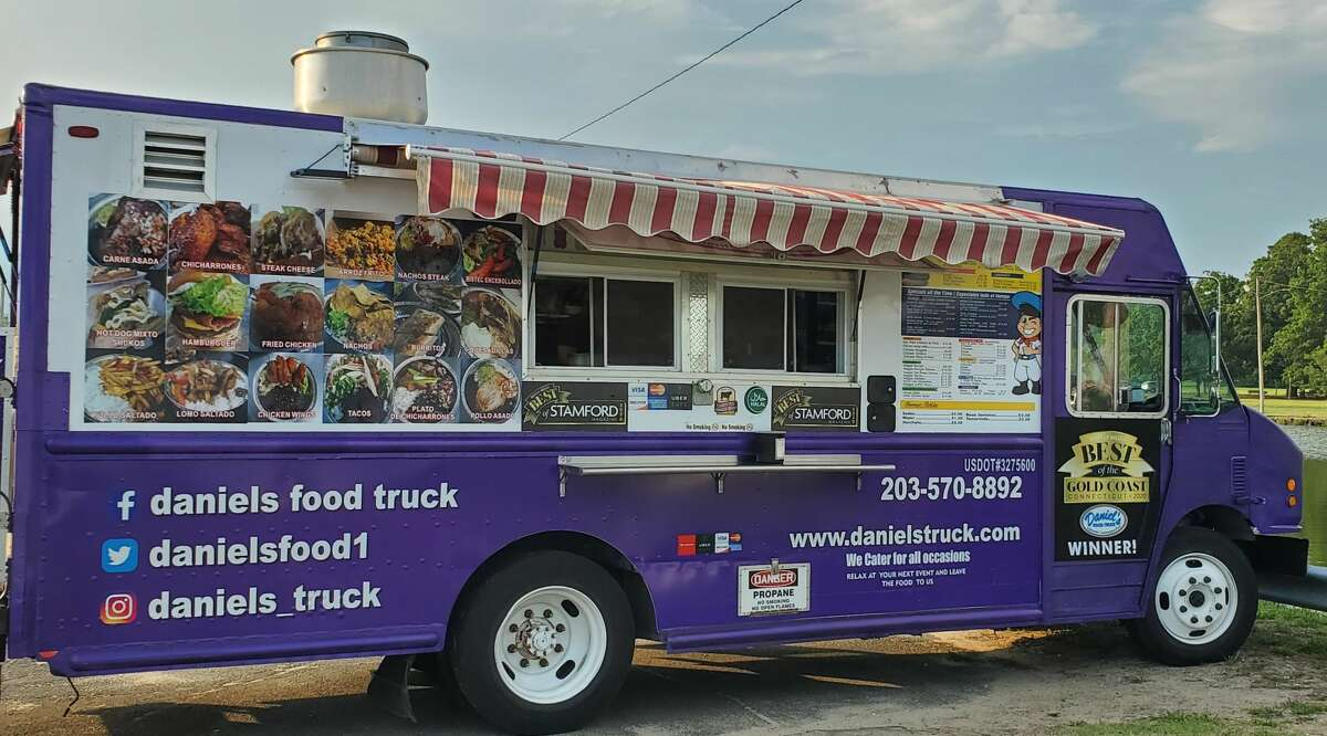 A look at Stamford's Daniel's Food Truck. Yon Carillo, social media and events manager for Daniel's Food Truck, believes that the allure of Daniel's comes from the truck's ever-changing menu that includes new gastronomic options and old favorites alike.  The truck was started after Carillo's father was injured during his former job, and soon after, Carillo's mother and father were both operating the truck. Together, the two brought their Guatemalan heritage to their cuisine, which has only expanded since the truck's inception.