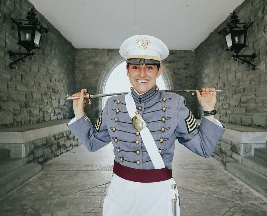 Cadet Emma Powless, daughter of Wayne and Amy Powless of Darien, a St. Luke's School alumna, graduated from the U.S. Military Academy on Saturday, June 13. Photo: Contributed /