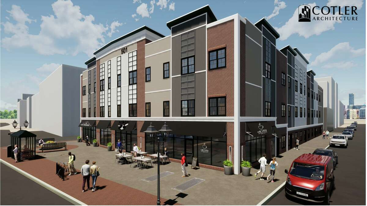 A rendering of the 501 State Street project, at the site of the former Citizens Bank building in Schenectady
