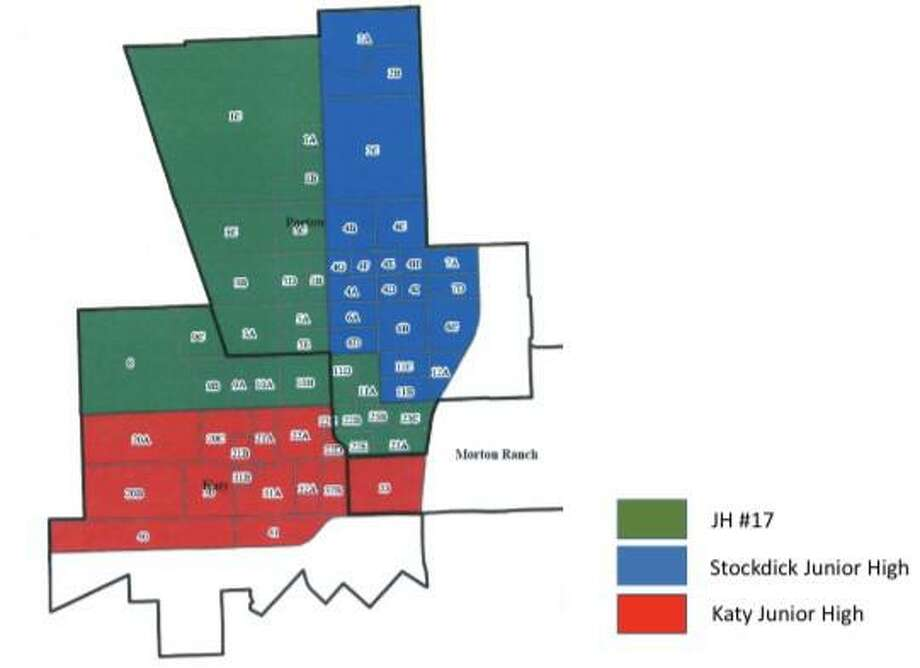 Katy Independent School District's Junior High No. 17 is slated to open in August 2021, bringing some relief from rapid growth in the northwest quadrant of the district. Here are the proposed attendance boundary modifications. Photo: Courtesy Of Katy ISD