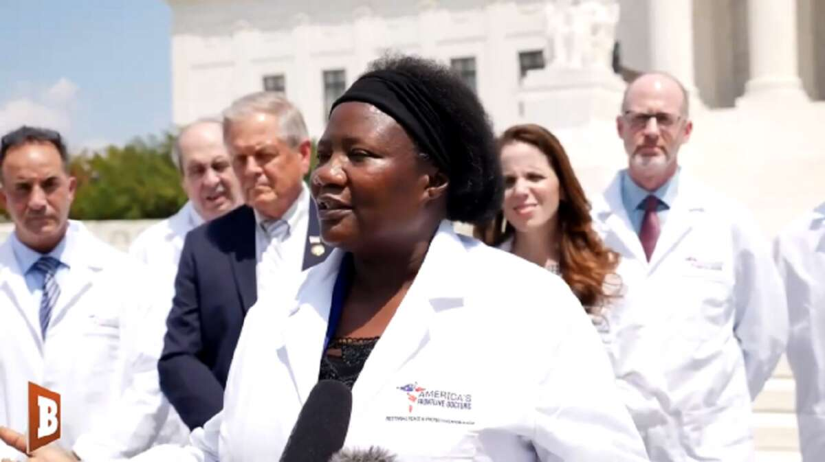 Dr. Stella Immanuel claims that she's cured 350 coronavirus patients with hydroxychloroquine.