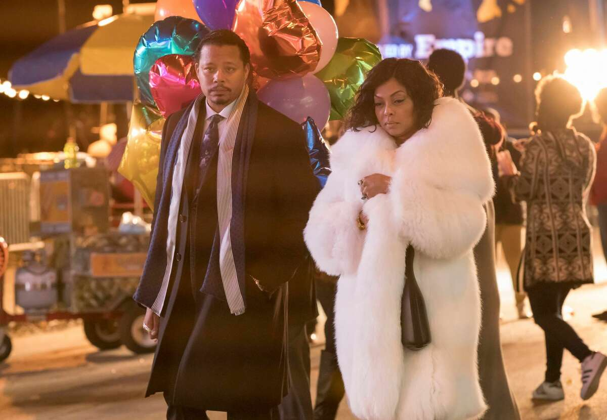 EMPIRE: Pictured L-R: Terrence Howard and Taraji P. Henson