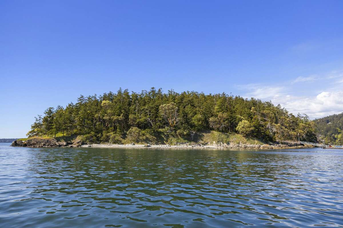 There are 4,200 square feet of saltwater frontage with tidelands, beaches and bluffs.
