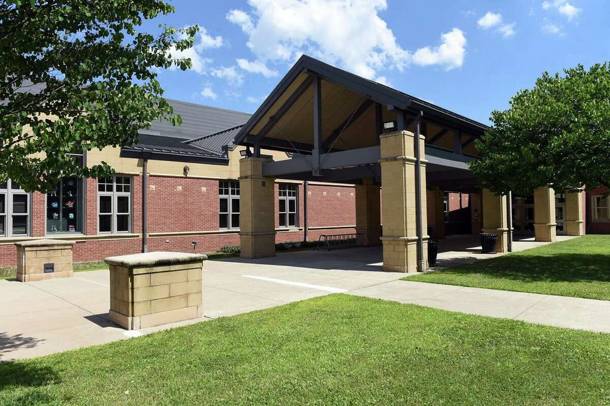 North Haven High School photographed on July 28, 2020.