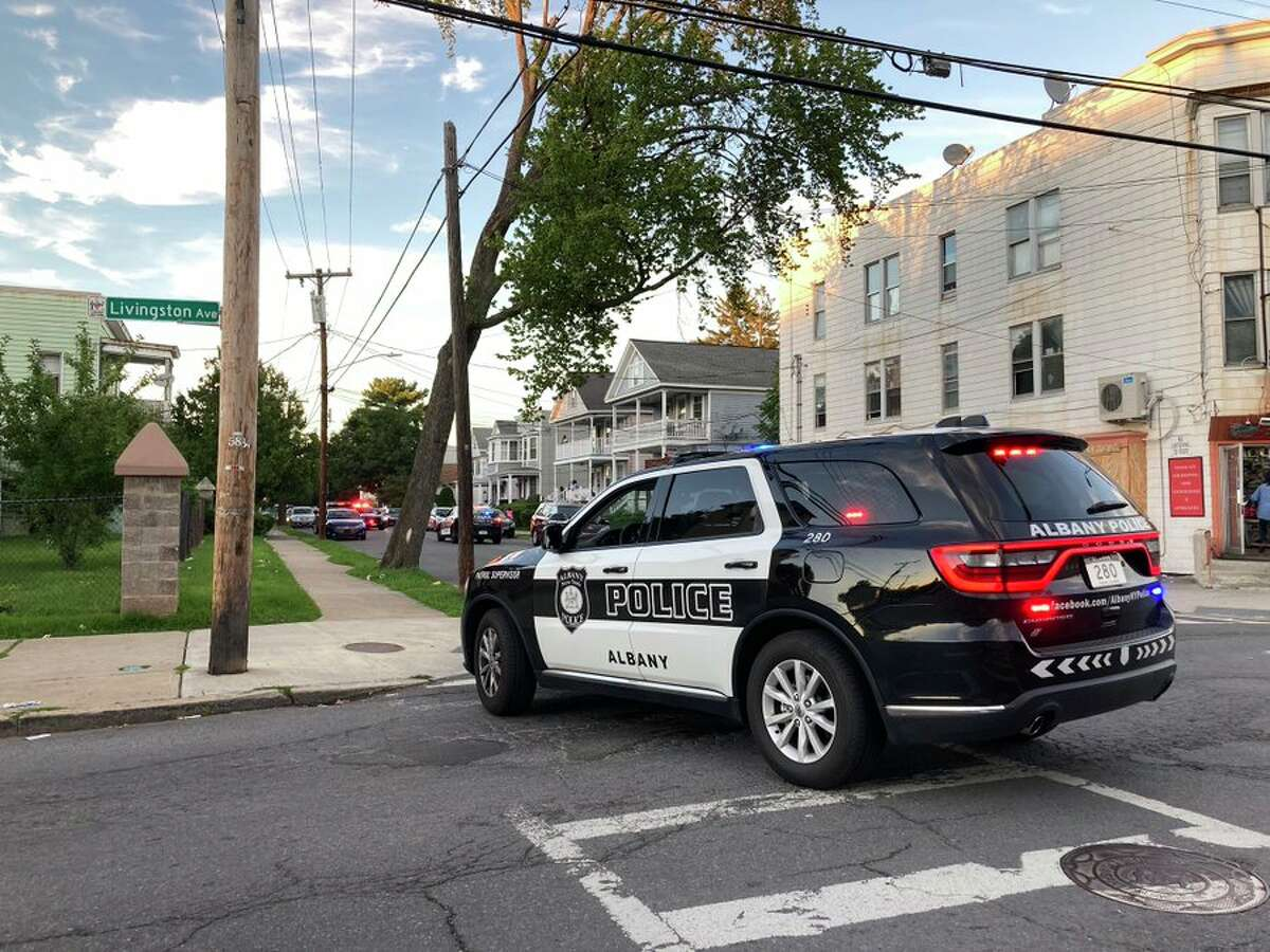 Albany police investigated a shooting on Livingston Avenue Tuesday, July 28, 2020.