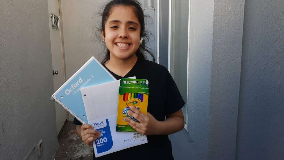 SupplyHopeInfo ships school supplies directly to low-income students in the Bay Area, like this one. Photo: Courtesy Of SupplyHopeInfo