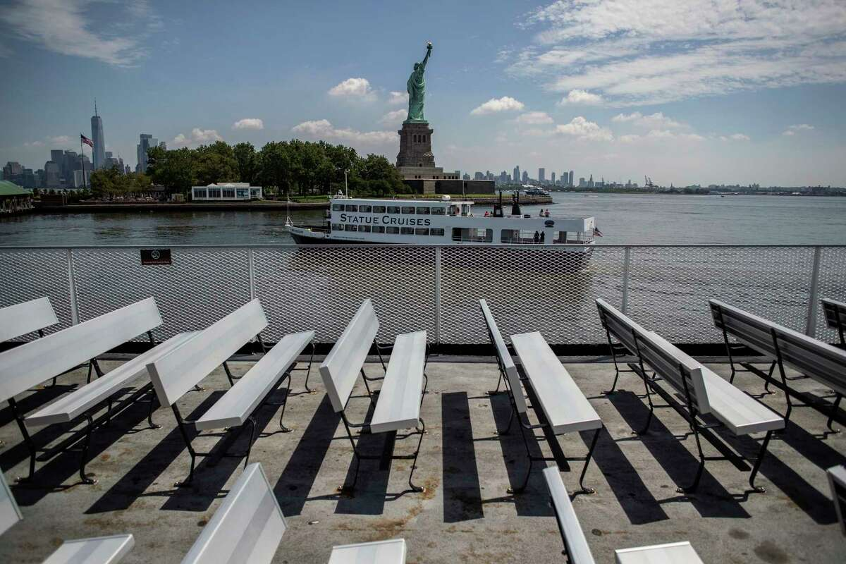 FILE. Letter writer says, 'By also coming together as New Yorkers to build our common future, we will show our state is firmly rooted in respect for people, justice and due process as symbolized by our Statue of Liberty, a light that shines for all.' (Victor J. Blue/The New York Times)