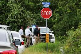Bexar County Sheriff's Department investigate the appearance of a body near the intersection of Spanish Grant and LaSoya in far south Bexar County on Tuesday, July 28, 2020.