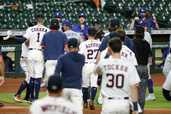 What Ignited The Astros Dodgers Benches Clearing Incident Houstonchronicle Com