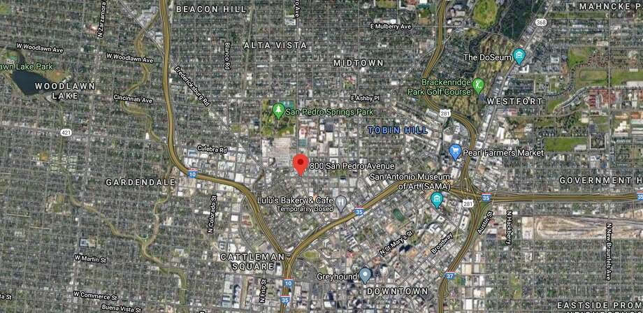 San Antonio firefighters pulled two people from a burning building on the North Side Tuesday morning. Photo: Google Maps