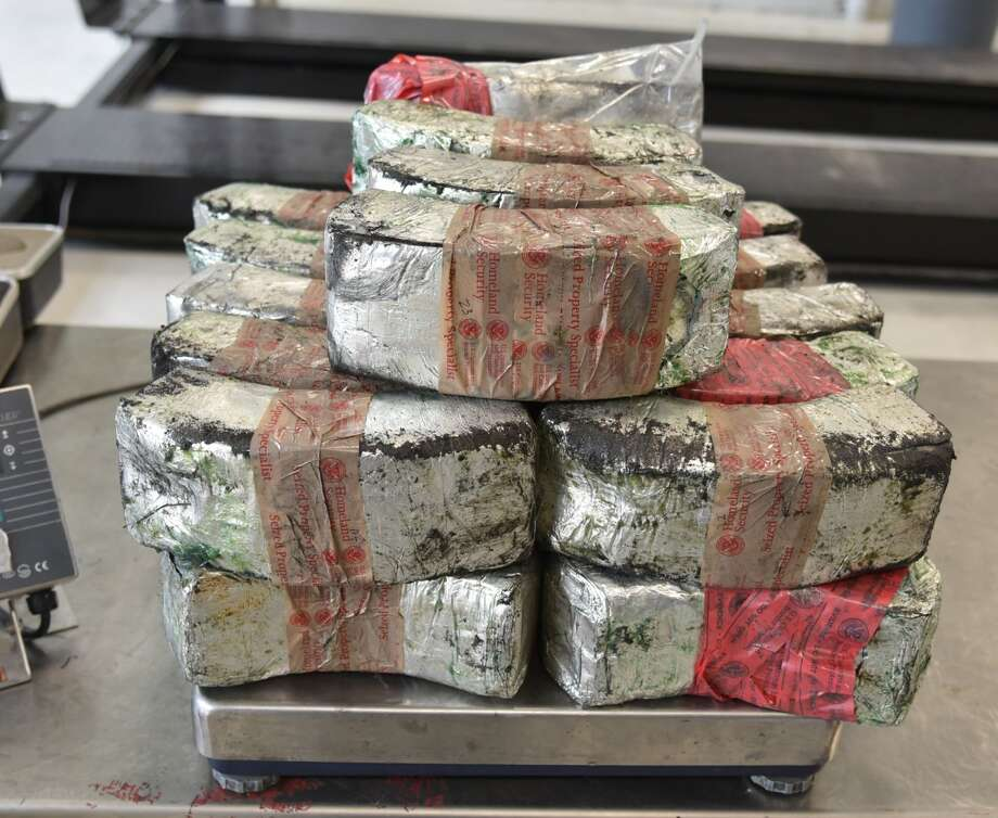 U.S. Customs and Border Protection officers seized these 98.67 pounds of meth at the Juarez-Lincoln International Bridge. The meth had an estimated street value of $1,973,557. Photo: Courtesy
