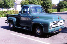 Kathi Curry's father taught her how to drive in a Meadow Green 1955 Ford pickup truck.