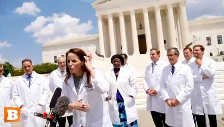 During a July 27, 2020, press conference, members of a group called America's Frontline Doctors floated several unproven conspiracy theories about the coronavirus pandemic.