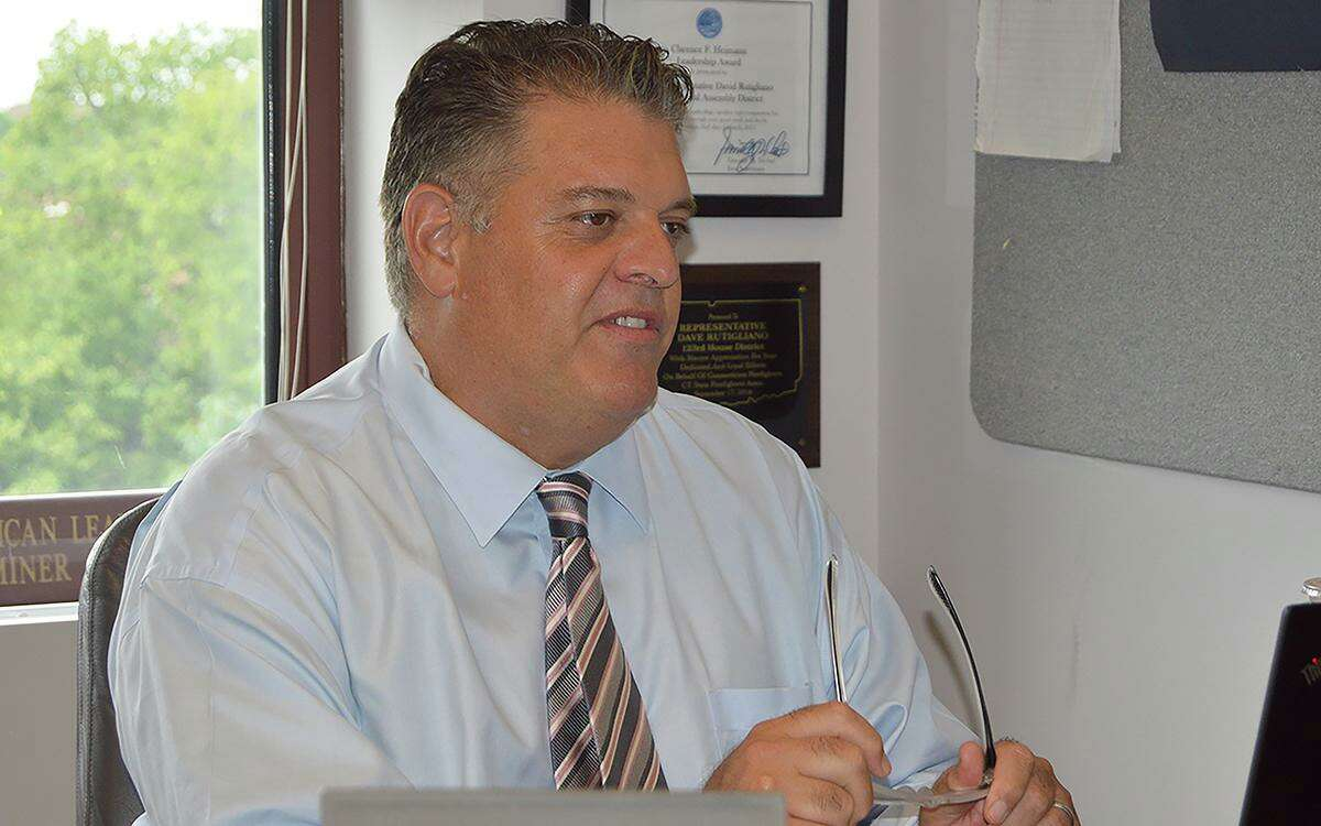 Legislators were permitted to vote from their office in the Legislative Office Building during the Special Session and not the Floor of the House of Representatives due to COVID-19 in order to maintain social distancing practices. Pictured is State Rep. Dave Rutigliano (R-123).