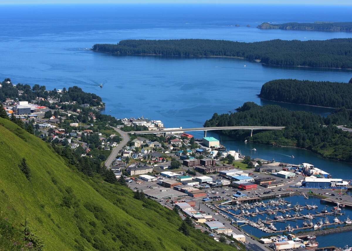 Alaska: Kodiak Island Borough - Population: 13,649 - Median household income: $78,281 For those who want to raise their families nestled in a tranquil Alaskan fishing village surrounded by local wildlife, Kodiak Island Borough may be the perfect home. With the Kodiak National Wildlife Refuge and over 3,000 Kodiak brown bears, the borough, situated in the Gulf of Alaska, also features the largest fishing port in the state. It also offers the best public schools of all 15 counties in Alaska, as well as many family activities including Salmon Camp, an award-winning science camp, and the Kodiak Crab Festival.