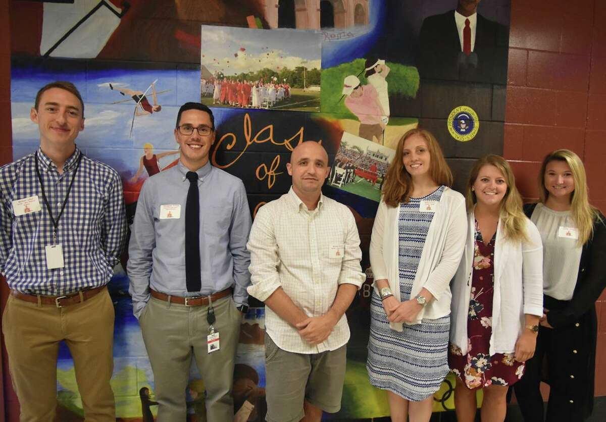New additions to New Canaan High School for 2019-20 school year were: Michael LeDuc, geo-physical science; Christopher Parsons, special education; Michael Forcucci, social studies; Rebecca Pavia, math teacher/co-chair; Lindsay Reihl, school counselor; and Mary Kavanaugh, science. The town's school district is stocking up on substitute teachers, to make sure it has enough help in all of its classrooms this coming school year, 2020-21, if regular teachers don't work because of, and, or during the coronavirus pandemic. Some of the concern regarding having enough teachers was sparked when more than double the amount of teachers retired from New Canaan schools before the end of the 2019-20 school year - 11 as opposed to three to five most years. Then administrators learned that other districts are hiring more teachers