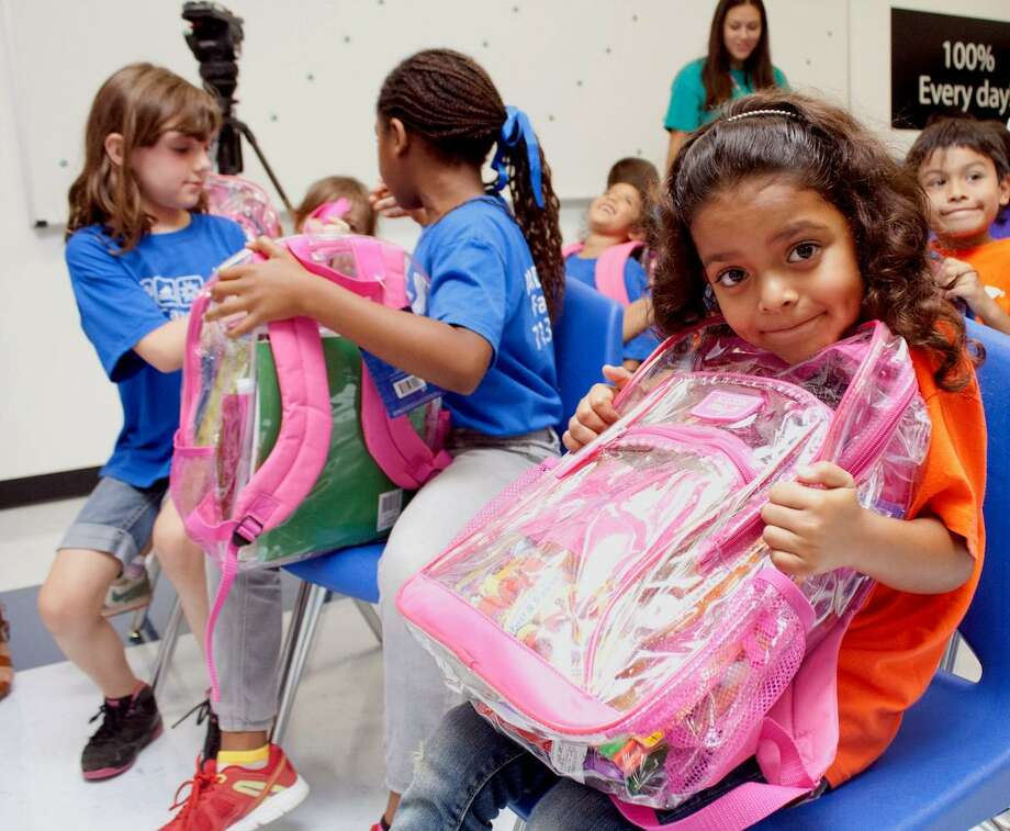 While the back-and-forth of school reopenings continues in Texas, the YMCA of Greater Houston continues to support students in need through their yearly program Operation Backpack whether schooling will be at home or on campus. Photo: Courtesy Of YMCA Greater Houston / Courtesy Of YMCA Greater Houston