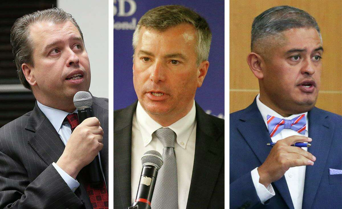 Three Bexar County school superintendents, Pedro Martinez of San Antonio ISD, Brian Woods of Northside ISD, and Eduardo Hernández of Edgewood ISD, spoke with the Express-News editorial board on July 29, 2020, about the fall reopening of schools amid the coronavirus pandemic.