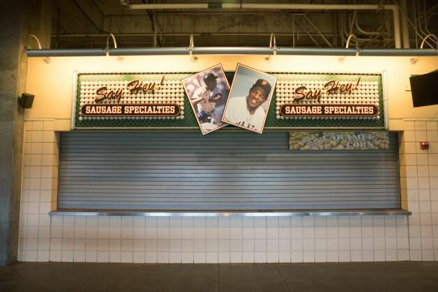 It was particularly sad to see the Say Hey Willie Mays stand closed as well.  Photo: Douglas Zimmerman/SFGATE / SFGATE