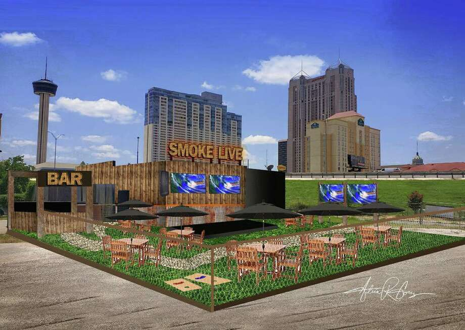 An artist's rendition of the finished space of Smoke BBQ Restaurant, located at 501 E. Crockett St. Photo: Adrian Gomez / Thebrandwork.com