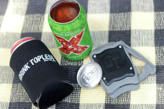 Draft Top is a device that cleanly cuts off the tops of most standard-size cans.
