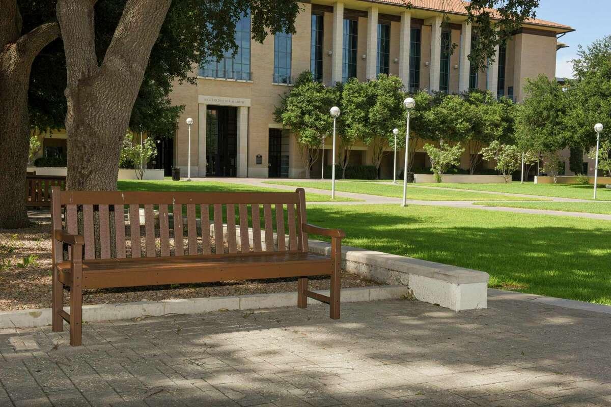 A view of TAMIU's empty campus as seen Thursday, Jun 11, 2020.
