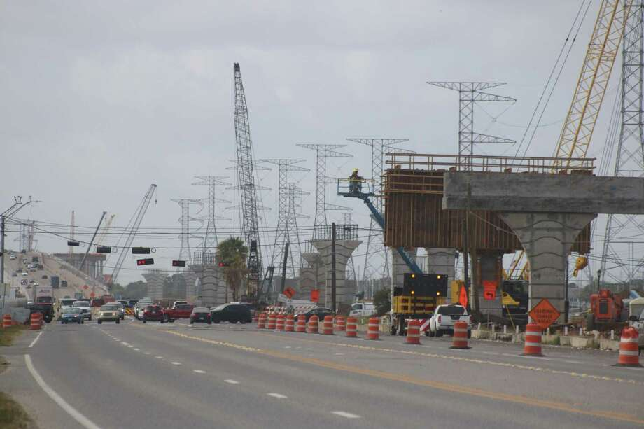 Approximately 44 months remain in the Texas 146 expansion project, according to the Texas Department of Transportation. Photo: Robert Avery