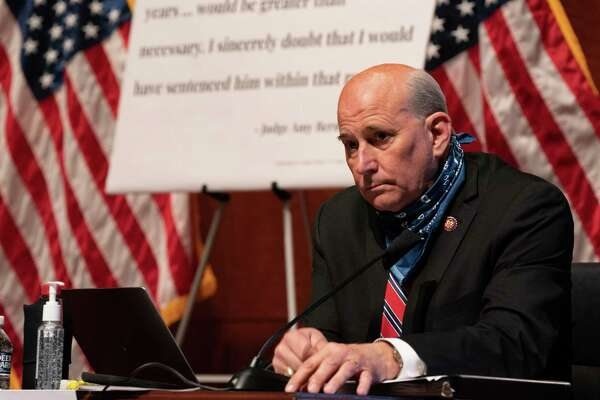 FILE -- Rep. Louie Gohmert (R-Texas) listens during a House Judiciary Committee hearing in Washington, on June 24, 2020. Gohmert tested positive for the coronavirus on Wednesday, July 29, 2020, ahead of a planned trip with President Donald Trump on Air Force One, officials familiar with the matter said. (Anna Moneymaker/The New York Times)