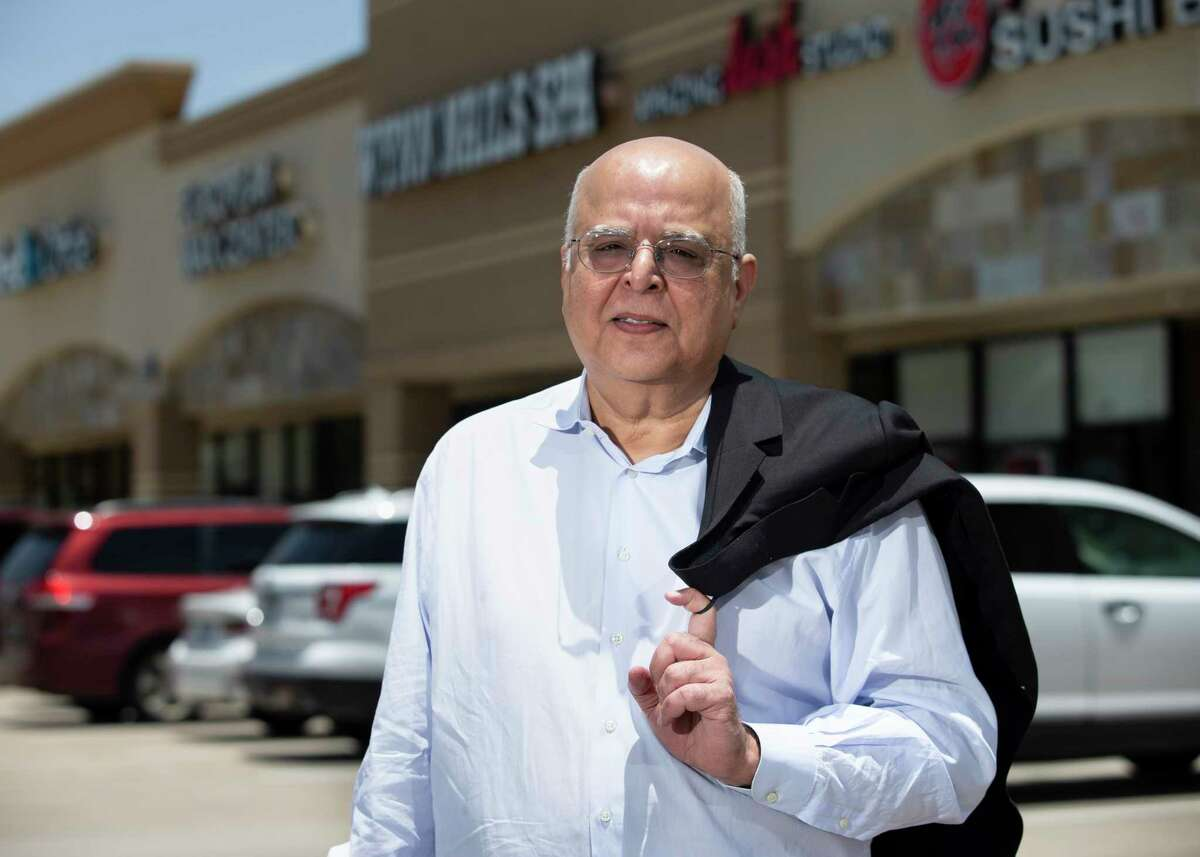 Sunny Bathija, Chief Executive Officer of Satya Inc., poses for a photograph Wednesday, June 10, 2020, at Olive Hill Shopping Center in Houston. Satya purchased 40 acres on Eldridge Parkway at Briar Forest in the Energy Corridor in 2003 to develop this retail center, which has since sold.