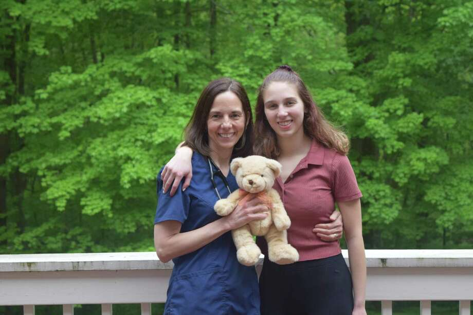 Dr. Amy Agoglia, left, and her daughter, Becca Cohen, have written a children's book about the COVID-19 pandemic. Photo: Contributed Photo / Dr. Amy Agoglia