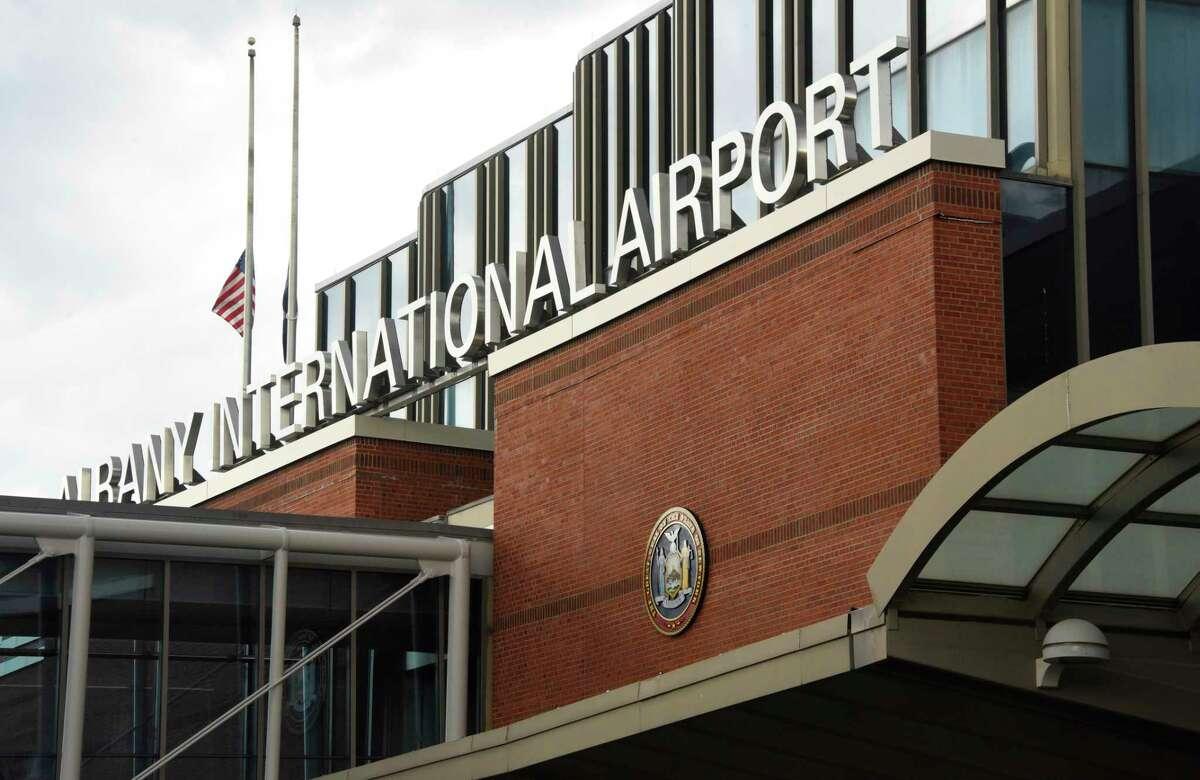 Exterior of Albany International Airport terminal on Wednesday, July 29, 2020 in Colonie, N.Y. (Lori Van Buren/Times Union)