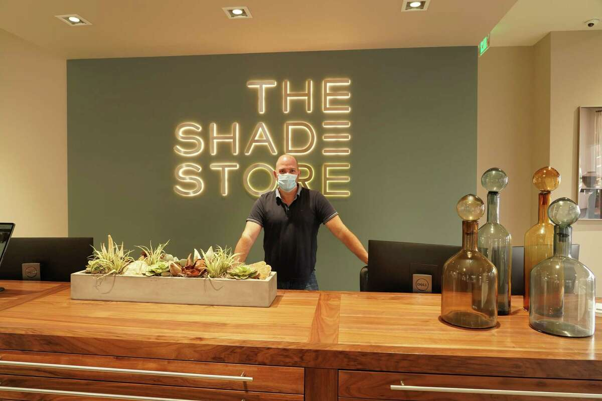 John Pappa, a design coordinator, recently welcomed customers to The Shade Store, which has just opened on the corner of Elm and Main streets in New Canaan.