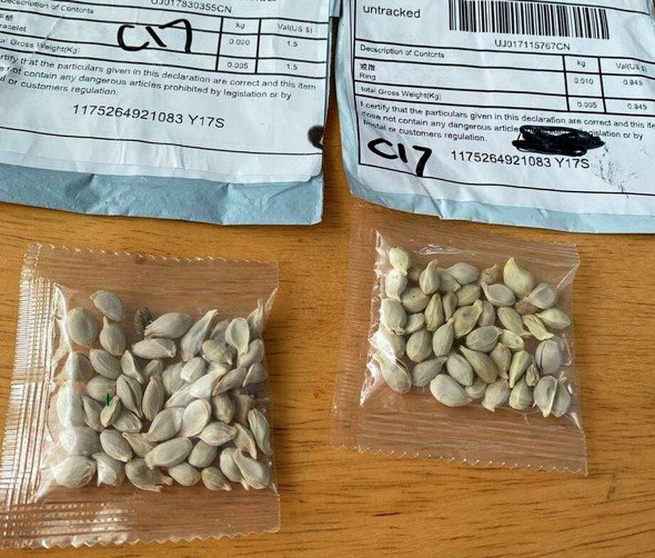 The Michigan Department of Agriculture and Rural Development (MDARD)said United Statesresidents have been receiving unsolicited packages of containing seeds from China in the mail. MDARD warns residents not toopen or plant the seeds. (Courtesy photo)