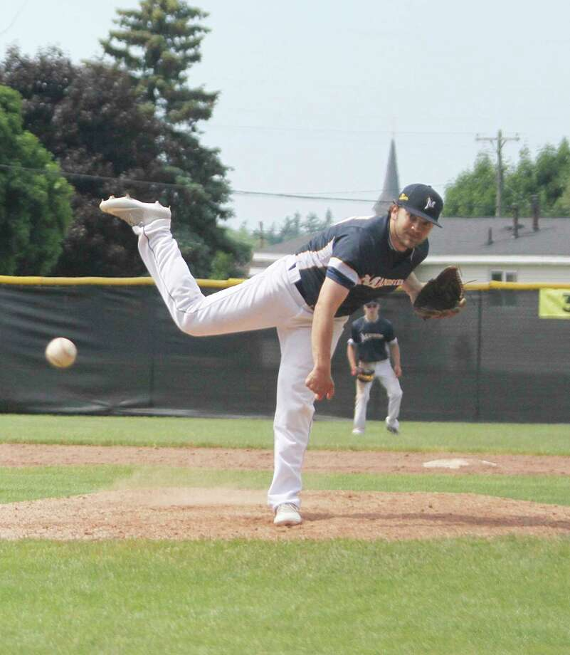 The Manistee Saints' Kyle Gorski is slated to start the team's tournament opener in Grand Rapids on Friday. (News Advocate file photo)