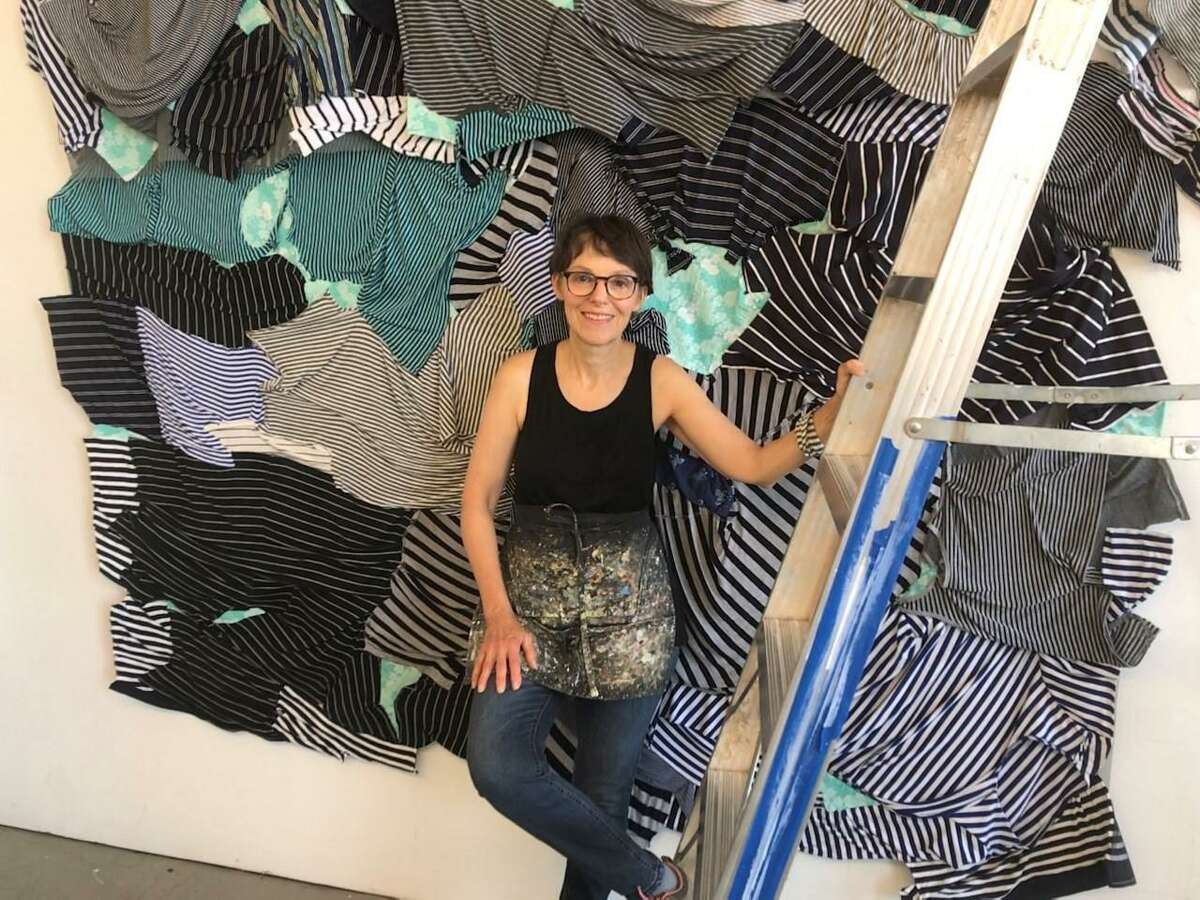 KathrynFrundwith a work in progress at her studio in New Haven.