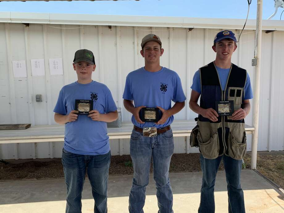 The Running Water Draw Shooting Sports shotgun club participated in the District 2 4-H Trap Contest on July 17. All of the shooters worked hard this year. The Top Shot buckle winners this year include Tye Graves (Junior), Carson Curry (Intermediate), and Ryan Walden (Senior). Photo: Photo Courtesy Of Audra Graves