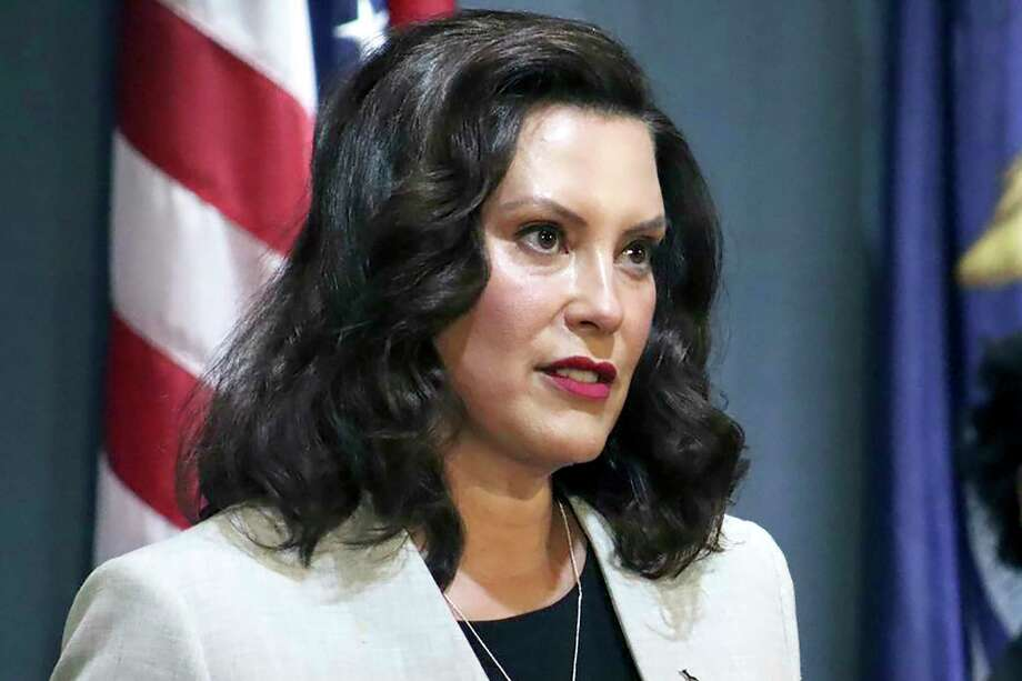 FILE - In a June 17, 2020, file photo provided by the Michigan Office of the Governor, Michigan's Democratic Gov. Gretchen Whitmer addresses the state during a speech in Lansing, Mich. Whitmer was unreceptive Tuesday, July 28, 2020, to Republican-passed legislation that would require public schools to offer in-person instruction to students in kindergarten through fifth grade amid the coronavirus pandemic.(Michigan Office of the Governor via AP, File) / Michigan Governors Office