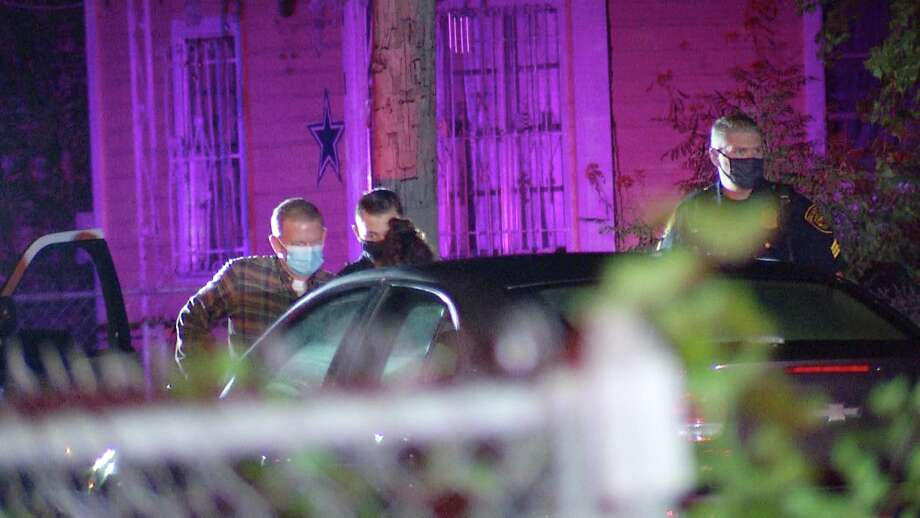 Two people were hospitalized early Thursday morning after a man broke into their home and shot them, San Antonio police said. Photo: Ken Branca