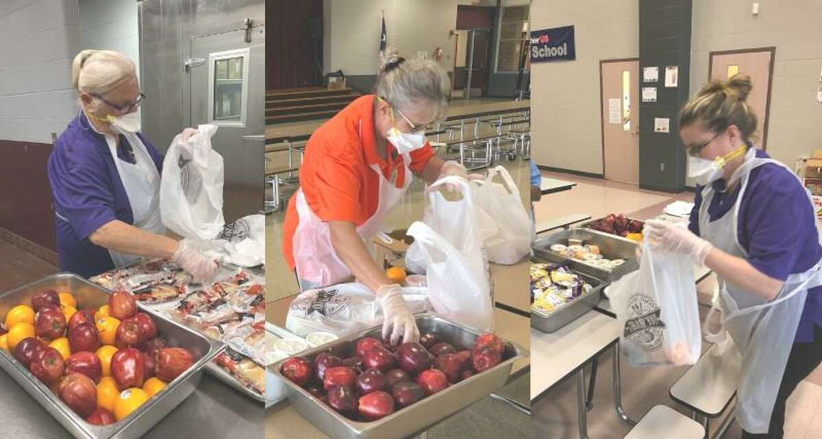 The Magnolia ISD Child Nutrition Department continues distributing meals to children during the COVID-19 pandemic.