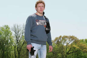 Edwardsville's Luke Odom finished his senior season with a 51-1 record and Class 3A state championship at 160 pounds to earn 2020 Telegraph Wrestler of the Year honors.