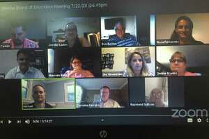 The Brookfield Board of Education meets virtually on Zoom.