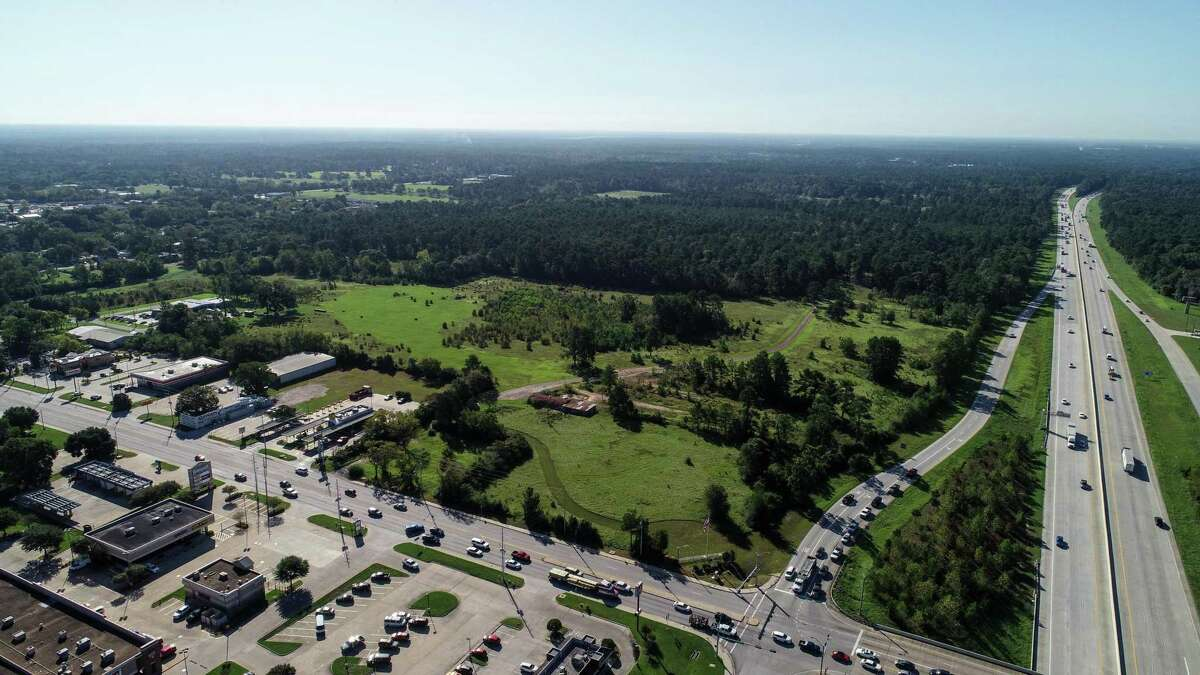 The Moran family ranch is just south of FM 1097 and east of Interstate 45. It is being redeveloped into a residential community.